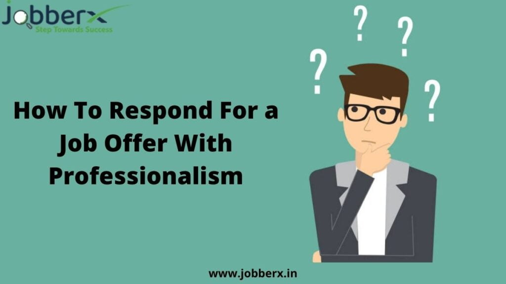 how to respond for a job offer